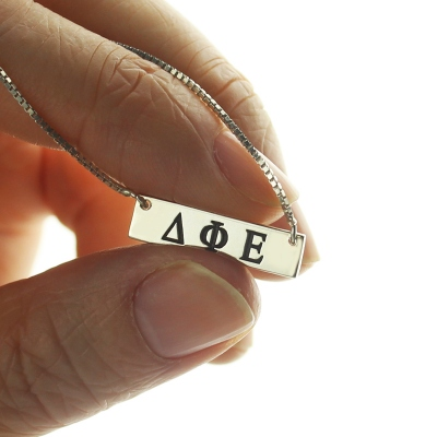 Amazing Custom Alpha Gamma Delta Greek Letter Sorority Bar Necklace