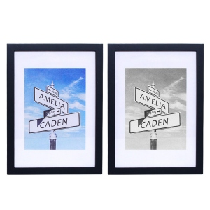 Custom Intersection of Love Photo Print in Black Frame