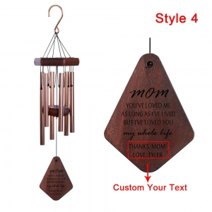Personalized  Wood Custom Memorial Wind Chimes
