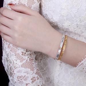 engraved cuff bracelet