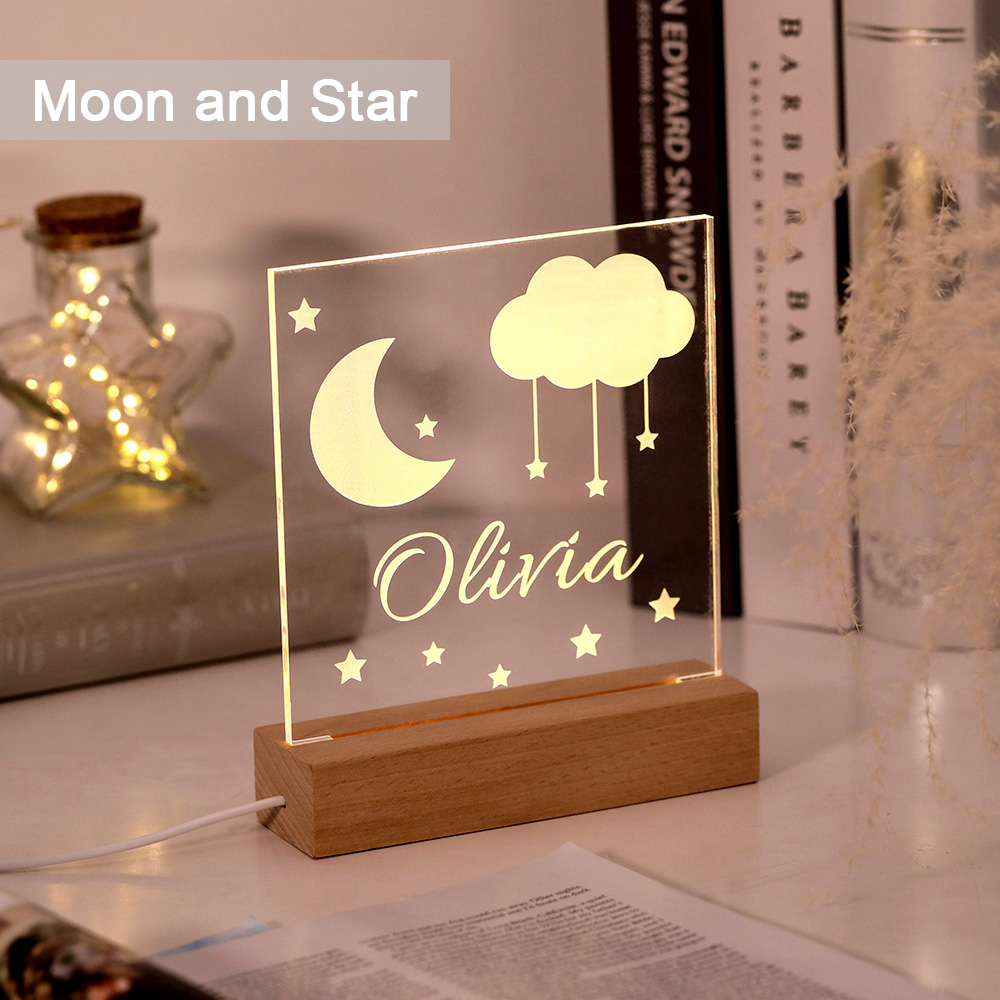 Personalized Name Night Light for Children