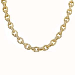Oval Link Iced Out Hip Hop Chain